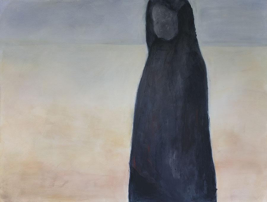Annäherung, Triptychon (3) [Acryl, Pigment auf leinwand, 2017]