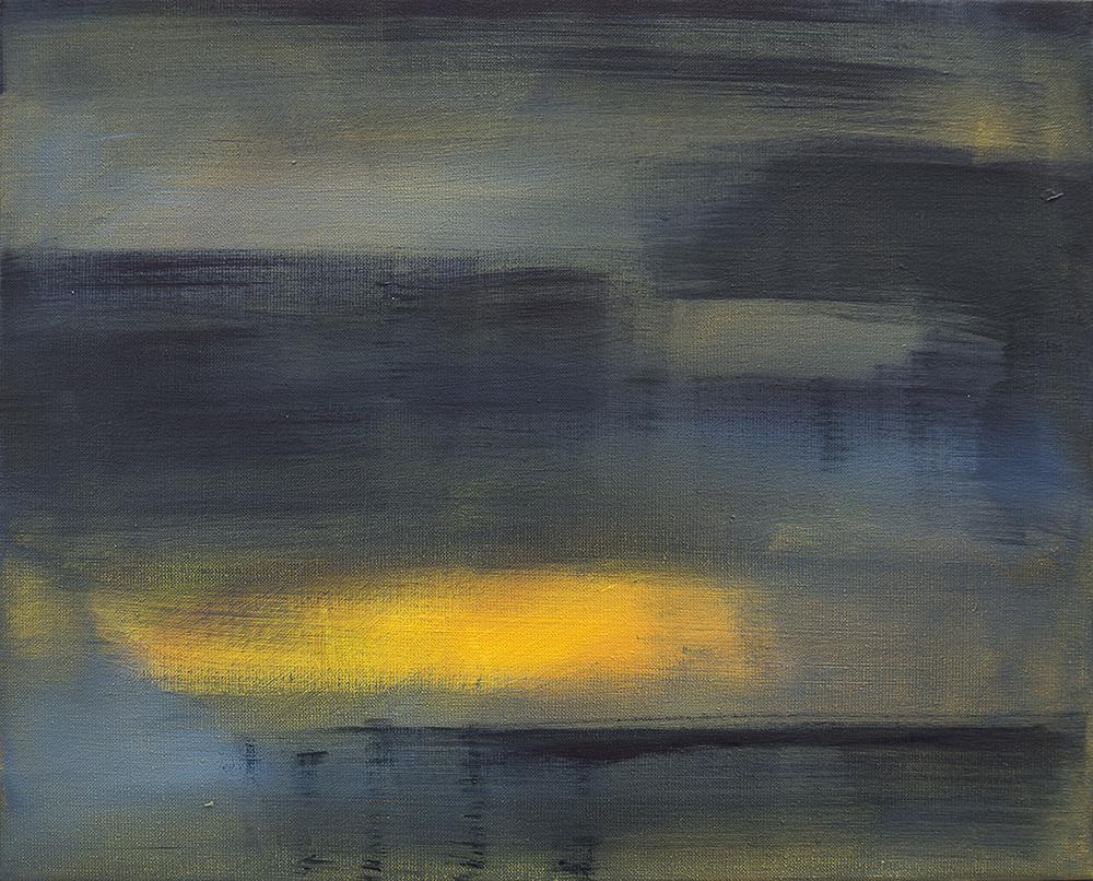 Die Rückkehr der Fischer [Pigment, Acryl auf Leinwand, 2017]